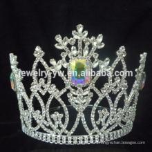 Фабричная распродажа !!! Довольно Свадебный цветок Свадебный Серебряный Rhinestone Tiara для молодых девушек