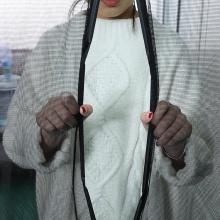 cortina con mosquitera de banda magnética