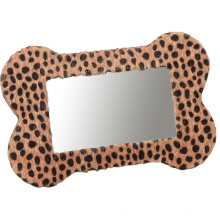 Quadro de foto de couro de impressão de leopardo para o presente