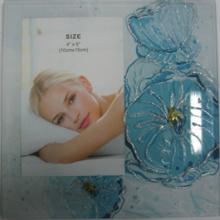 "Blaue Blume Glas Fotorahmen In 6 ""X 8"""