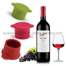 OEM-Logo-heiße Verkaufs-Silikon-Wein-Retter-Flaschenkapsel