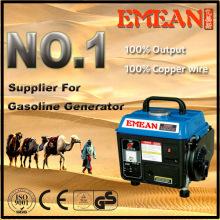 Generador de gasolina de arranque manual 600W 650W con CE
