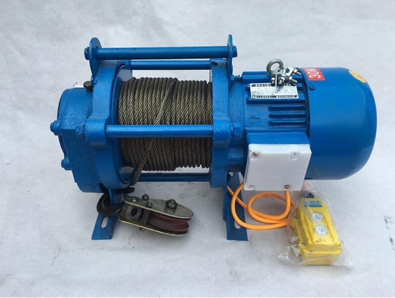 mini electric winch save space