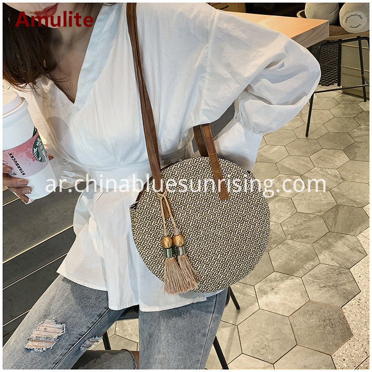 Round Straw Bag Handbag
