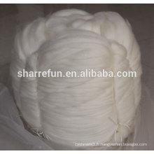 Le cachemire cru pur saute le blanc naturel 16.0mic / 46mm pour la filature peignée