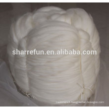 Pure Raw Cashmere Tops Natural White 16.0mic/46mm for worsted spinning