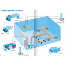 Conduit dans le système de conditionnement central du stérilisateur d'air UV