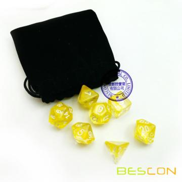 Bescon RPG Dice Set Nebula Yellow 7 Piece Dice Set