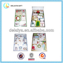 Promotional christmas self-adhesive cartoon sticker book for kids