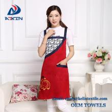 Custom printed 100% cotton fabric kitchen chef apron for wholesale Custom printed 100% cotton fabric kitchen chef apron for wholesale