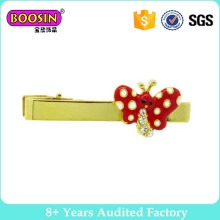 Men′s Stainless Steel Butterfly Bow Tie Clip with Custom Logo