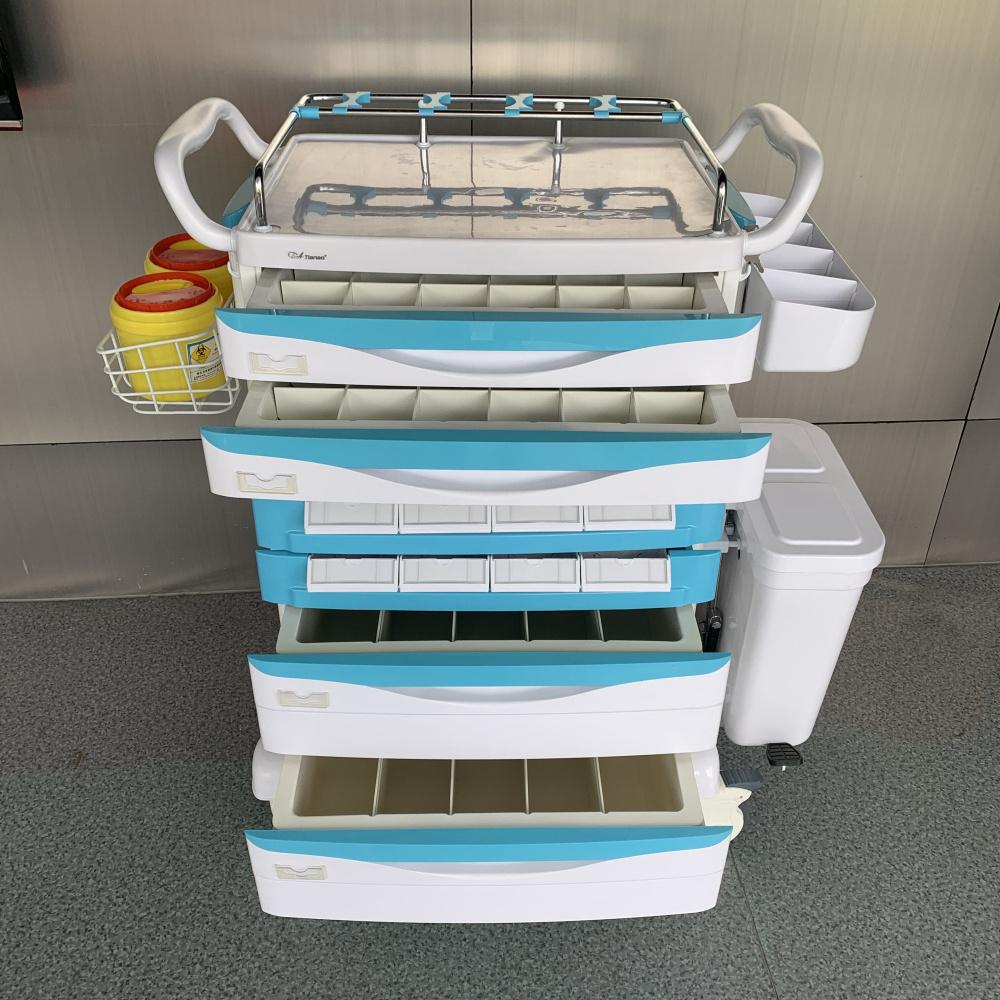 Hospital Convenient Medicine Trolley