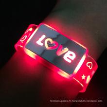 bandes flashes allument bracelet
