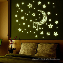 MOQ 500 Beautiful Glow In Dark Sticker, Wall Stickers Kids Bedroom Glow In The Dark Stars