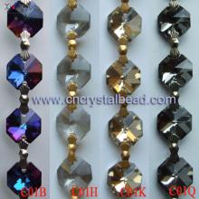 DL01 Chaîne de perle de cristal octogone