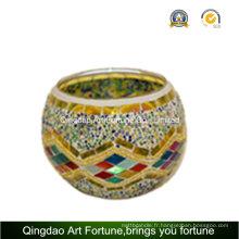 Porte-lumière turquoise artisanale à base de thé à la mosaïque artisanale Fabricant
