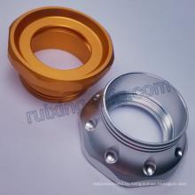Алюминия поворачивая подвергая механической обработке светодиодный фонарик Факел металла передняя Крышка задняя крышка
