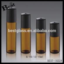 5мл 10мл цветные стеклянные бутылки янтаря коричневый прозрачный синий стеклянная бутылка пробка стеклянный флакон эфирное масло бутылка ролика