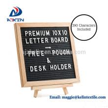 Veränderbares Filzbriefbrett mit BONUS Schreibtischhalter und 10 x 10 Zoll Eichenholzrahmen