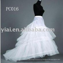 Часовня поезд свадебное платье Петтикот PC016