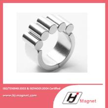 Alta qualidade cilindro personalizado permanente NdFeB/ímã do Neodymium para motores