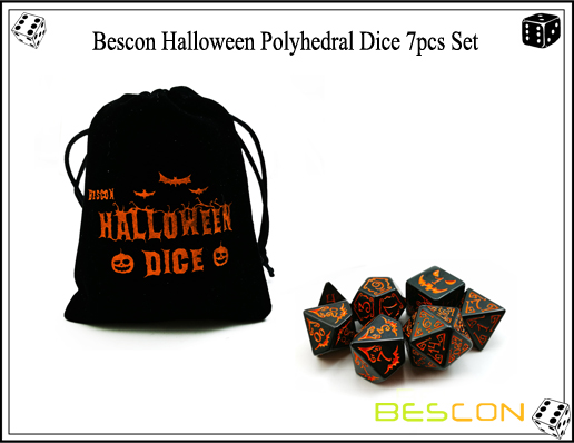 Bescon Halloween Polyhedral Dice 7pcs Set-2