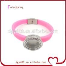 Moda venda quente pulseira de silicone atacado