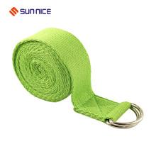 100% Baumwolle D-Ring Yoga-Gurt