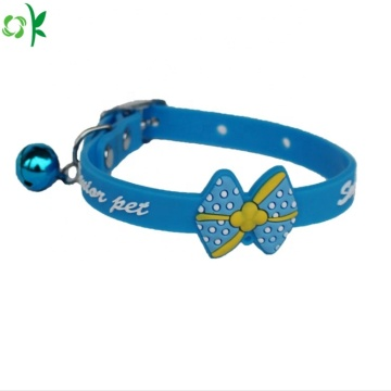 OEM Hot Jual Cute Silicone Pet Collar