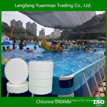 Tablette efficace de dioxyde de chlore pour le traitement de piscine