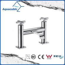 Top-Mount Two Holes Dual Handle Bathtub Brass Faucet (AF1512-2A)