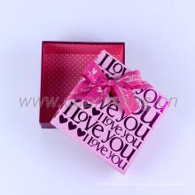 Boîte de cadeau d'emballage de bonbons de mariage personnalisé
