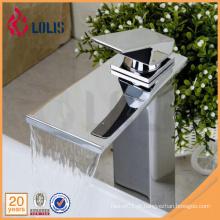 Novos produtos cromo única alavanca banheiro pia cachoeira faucet