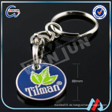 Billig Promotion 22mm Trolley Münze Schlüsselanhänger
