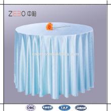 Tissu en polyester de haute qualité Différentes couleurs disponibles Tissu de table en lin rond de 120 po