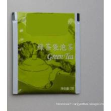 Sachet de thé vert (feuille sachet de thé)