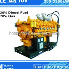 Honny Dual Fuel Generators with 30% Diesel Fuel, 70% Nature Gas