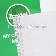 Cuaderno espiral con páginas en blanco