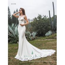 Neueste anständige Hochzeitskleidentwurfs-exquisite bördelnde Dekorationbrautkleidspitze Saum