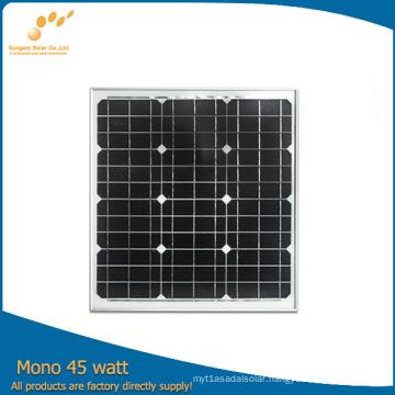 High Efficiency Mono 45W/145W/245W Panel Solar (TUV, ISO, MCS) (SGM-45W)