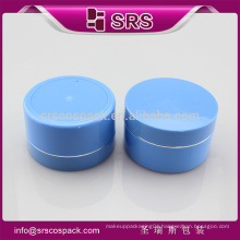 SRS made in China round shape big cream jar, empty blue 100g cosmetic hair container