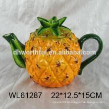 Pote de té de cerámica de forma de piña popular