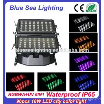 Super 96pcs 18w IP65 6 in 1 rgbwauv ip65 waterproof outdoor lighting