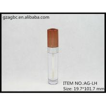 Plastique transparent & vide ronde Lip Gloss Tube AG-LH, AGPM emballage cosmétique, couleurs/Logo personnalisé