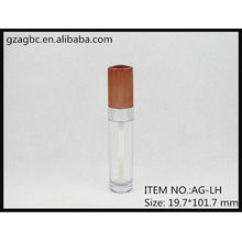 Transparent&Empty Plastic Round Lip Gloss Tube AG-LH, AGPM Cosmetic Packaging , Custom Colors/Logo