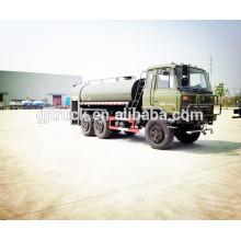 10cbm capacidad 6X6 Dongfeng camión de agua inoxidable / tanque de agua camión / carro de agua / navegador de agua / rociadores de agua / carro de agua