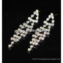 Neue Art- und Weiseförderung-elegante silberne hängende Kristallbolzen-Ohrringe