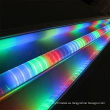 Tubo de barandilla digital con barra direccionable de luz LED para decoración de letreros de anuncio de puente. Perfil de Alu programable.