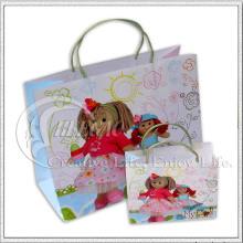 Bolsa de papel con diseño de dibujos animados (KG-PB044)