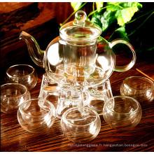 Ensemble de thé en verre Verrerie Électrique en verre Ustensiles de cuisine Pot en verre
